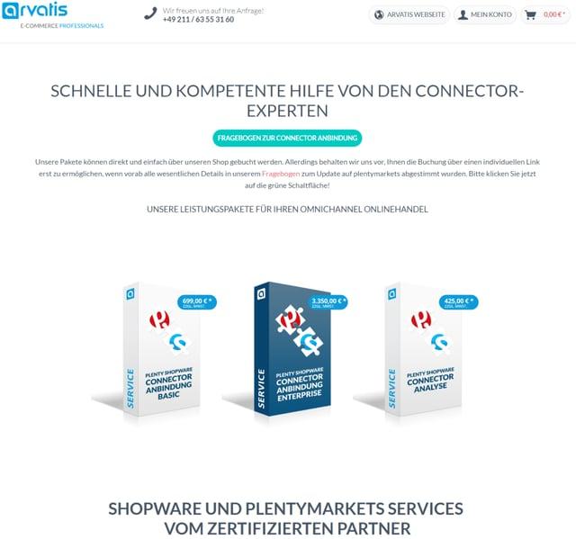plentymarkets Shopware4, Shopware5 und Shopware6 Connector